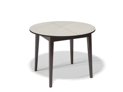 Стол Kenner 1000 M венге/стекло крем