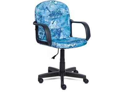 Кресло Baggi ткань Принт Карта на синем