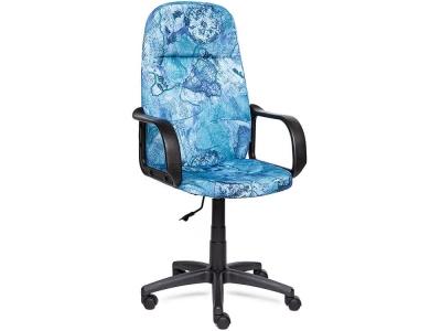 Кресло Leader ткань Принт Карта на Синем