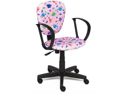 Кресло СH413 ткань Принт Динозаврики на Розовом