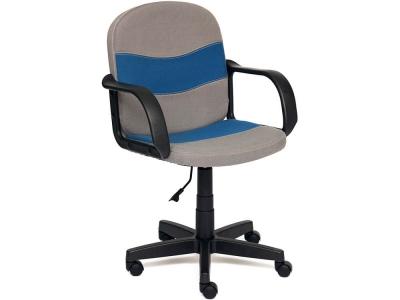 Кресло Baggi ткань Серый + Синий (с27/с24)