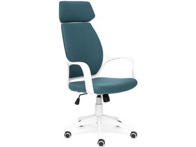 Кресло Grace ткань Белый + Голубой (56)