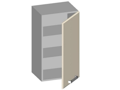 Шкаф навесной 400 с глухим фасадом 14.01 Умница Ваниль 400х320х720