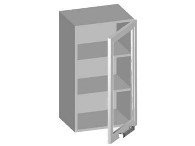 Шкаф навесной 400 со стеклянным фасадом 400х320х720 14.02 Умница