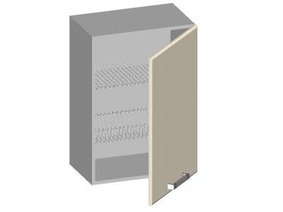 Шкаф навесной 600 с глухим фасадом 14.42 Умница Ваниль 600х320х720