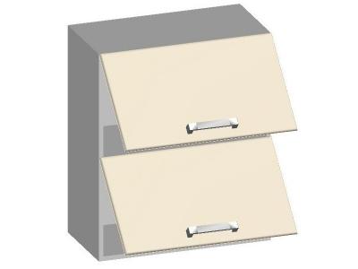 Шкаф навесной 600 с 2-мя горизонтальными фасадами 14.06 Умница Ваниль 600х320х720