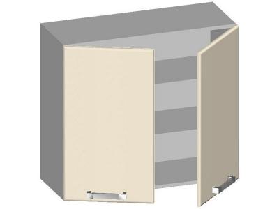 Шкаф навесной 800 с 2-мя глухими фасадами 14.08 Умница Ваниль 800х320х720