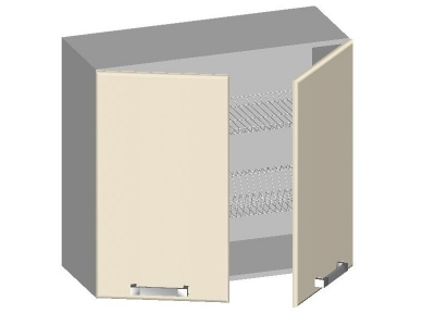 Шкаф навесной 800 с 2-мя глухими фасадами 14.10 Умница Ваниль 800х320х720