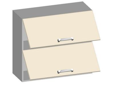 Шкаф навесной 800 с 2-мя горизонтальными фасадами 14.13 Умница Ваниль 800х320х720