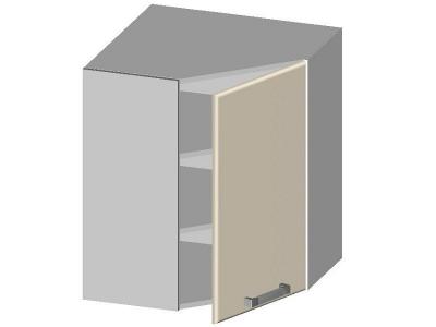 Шкаф навесной угловой с глухим фасадом 14.14 Умница Ваниль 597х597х720