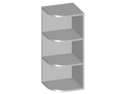 Шкаф навесной угловой с открытыми полками 300х298х720 14.15 Умница