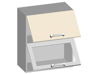 Шкаф навесной 600 с 2-мя горизонтальными фасадами 14.16 Умница Ваниль 600х320х720