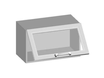 Шкаф навесной 600 со стеклянным фасадом 600х320х360 14.17 Умница