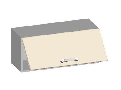 Шкаф навесной 800 с горизонтальным фасадом 14.18 Умница Ваниль 800х320х360
