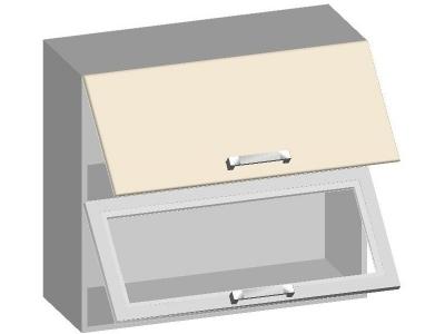 Шкаф навесной 800 с 2-мя комбинированными фасадами 14.19 Умница Ваниль 800х320х720