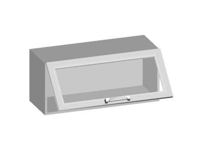 Шкаф навесной 800 со стеклянным фасадом 800х320х360 14.20 Умница