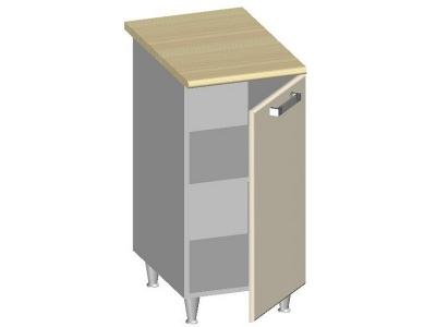 Стол-шкаф 400 с глухим фасадом 14.21 Умница Ваниль 400х600х845