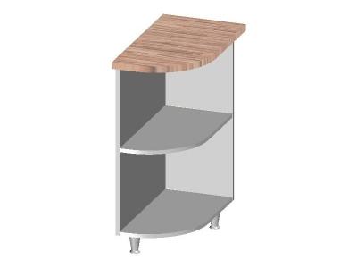 Стол-шкаф угловой с открытыми полками левый-правый 300-350х600х845 14.34 Умница