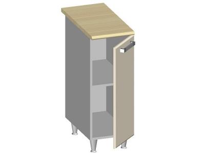 Стол-шкаф 300 с глухим фасадом 14.35 Умница Ваниль 300х600х845