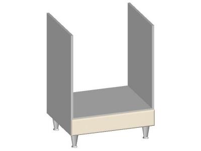 Встроенный шкаф 600 под духовку 14.36 Умница Ваниль 845х600х600