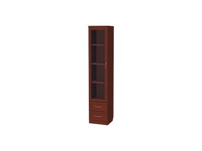 Шкаф для книг с ящиками узкий артикул 220 итальянский орех