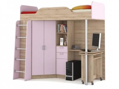Кровать-чердак со столом Ника 427 Т Лаванда BSBS1