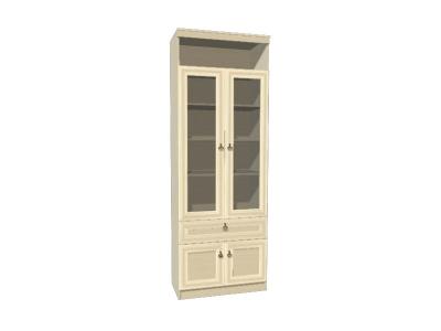 Шкаф для книг 611 Инна Денвер светлый 800х368х2248 полки - ДСП