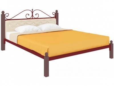 Кровать Диана Lux мягкая красная