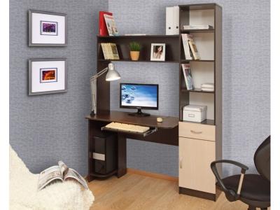 Компьютерный стол Интел 2 Венге магия-Дуб девонширский