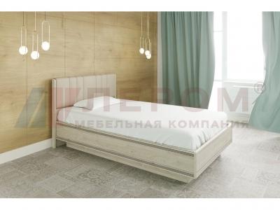 Кровать с мягким изголовьем КР-1012 1400х2000 Гикори Джексон светлый