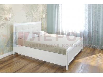 Кровать с мягким изголовьем КР-1034 1800х2000 Снежный Ясень