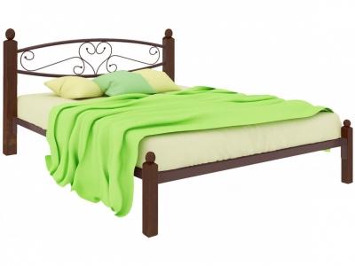 Кровать Каролина Lux коричневая