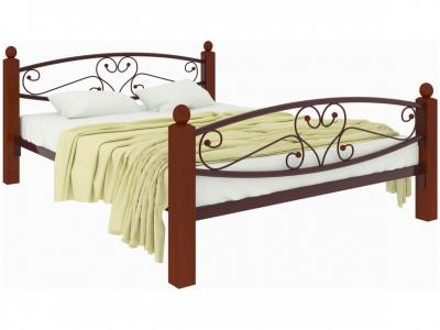 Кровать Каролина Lux plus коричневая