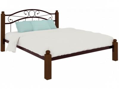 Кровать Надежда Lux коричневая