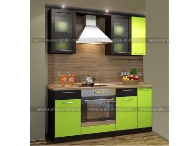 Кухня Фантазия олива металлик-венге