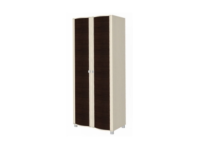 ШК-202 Шкаф для одежды и белья 2172х896х620 Дуб Беленый - комбинированный
