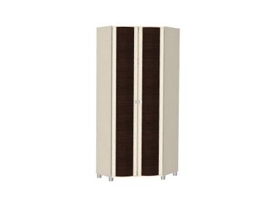 ШК-206 Шкаф для одежды и белья 2172х856х856 Дуб Беленый - комбинированный