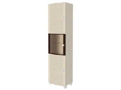 ШК-306 Шкаф многоцелевой 2172х540х396 Дуб Беленый - комбинированный