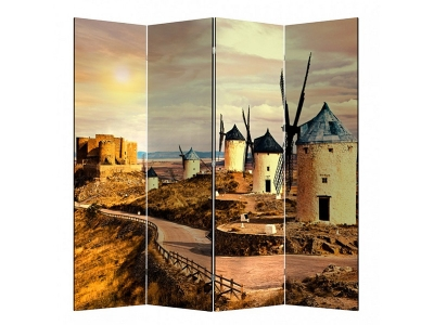 Ширма 1409-4 Мельница 4 панели