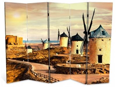 Ширма 1409-5 Мельница 5 панелей