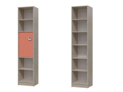 Шкаф стеллаж с дверкой Сити Коралл 6-9413