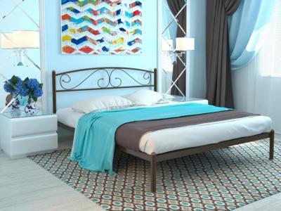 Кровать Вероника коричневая