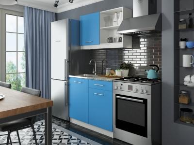 Кухонный гарнитур Алиса мини №1 Голубой
