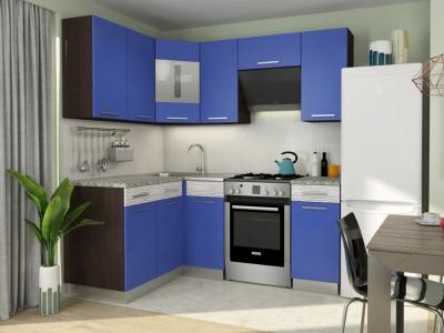 Кухонный гарнитур Алиса 11 угловой Синий