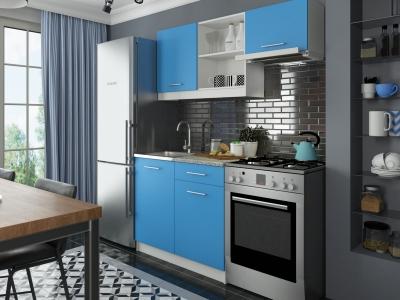 Кухонный гарнитур Алиса мини №2 Голубой