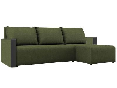 Угловой диван Алиса 3 Savana Green-Teos Black кат. 1
