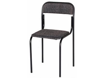 Офисный стул Аскона черный - обивка серая