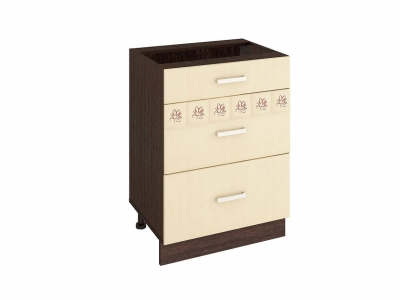 Стол с 3 ящиками - метабоксы 10.66.2 Аврора 600х470х820
