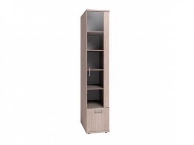 Шкаф для книг Берлин 10 Шоколад глянец 400х590х2101