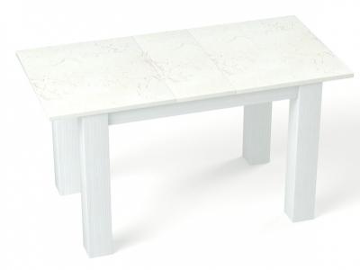 Стол Бостон пластик Мрамор Марквина-Либерика молочная